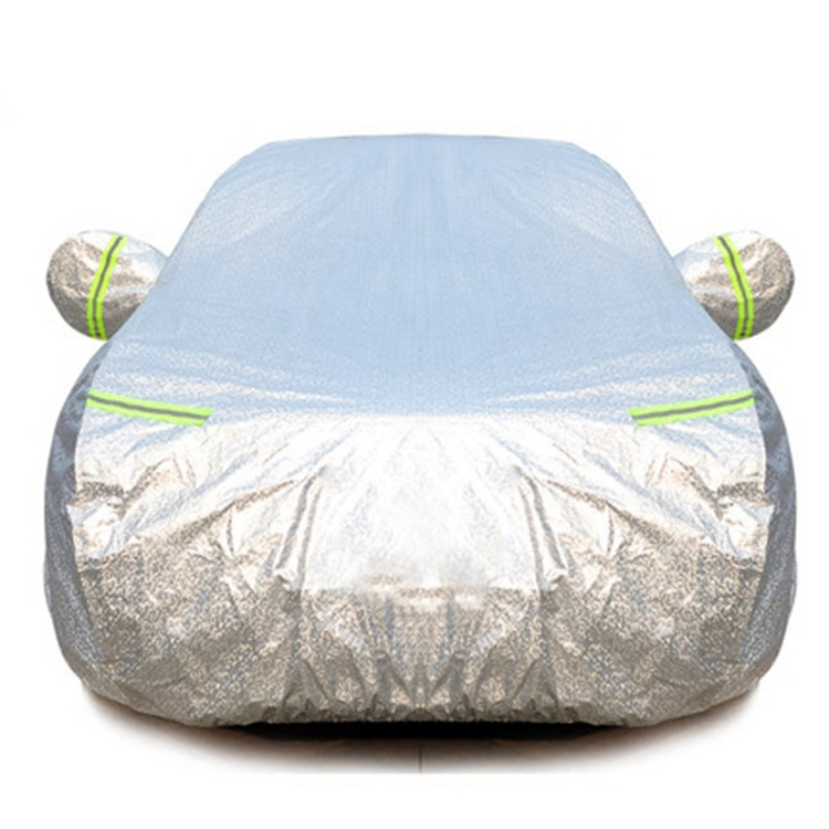 ZHANZHANLE Aluminum Film Car Sewing Car Cover Sunscreen Rainproof Thickening Car Cover Sunshade Shie