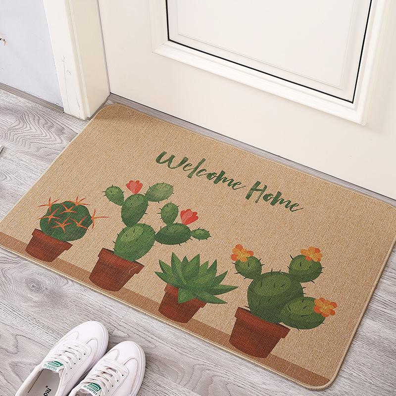 JAYA Linen rubber floor mat Linen mat rubber mat Kitchen door stepping mat Non-slip rubber