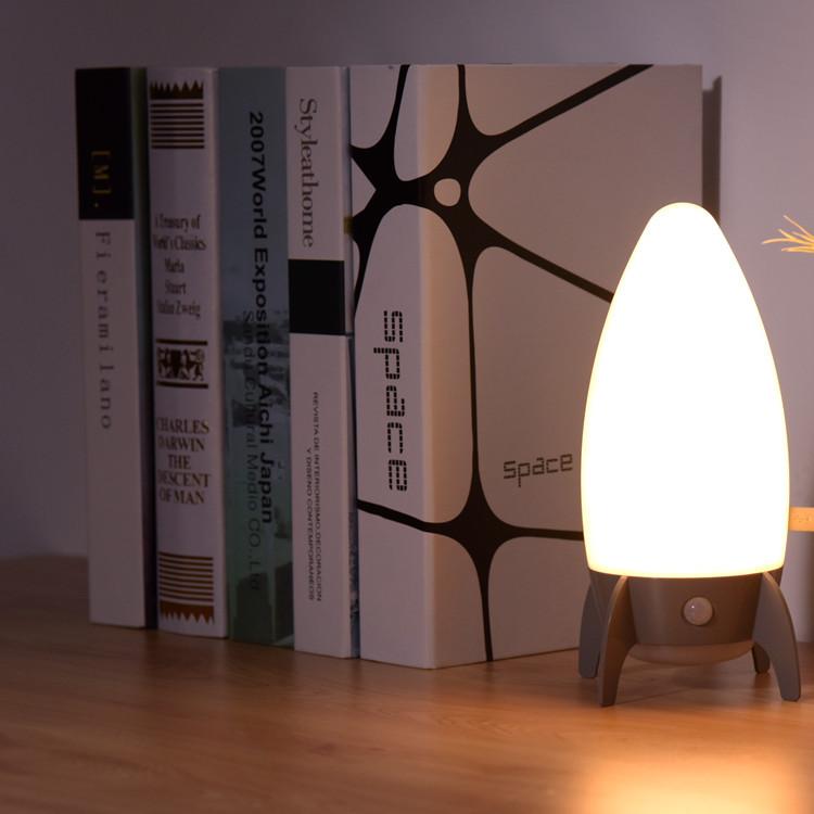 YIJIA New modern rocket-shaped night light Children's eye protection light Creative LED bedside lig