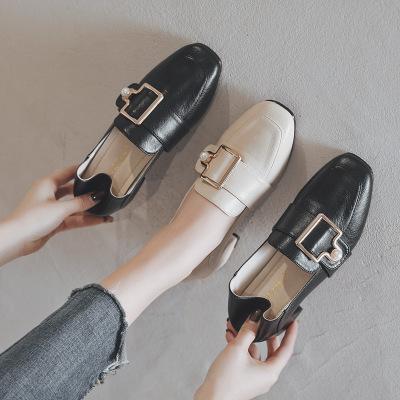 Giày mọi da kiểu cao gót thời trang cho phụ nữ .