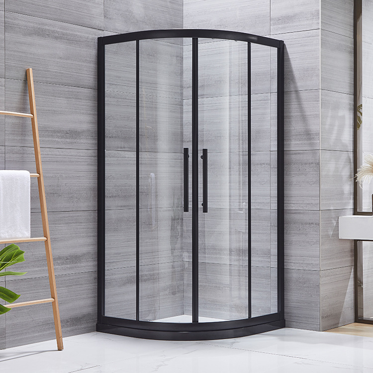 Black simple shower room overall shower room partition bathroom dry and wet separation shower room g