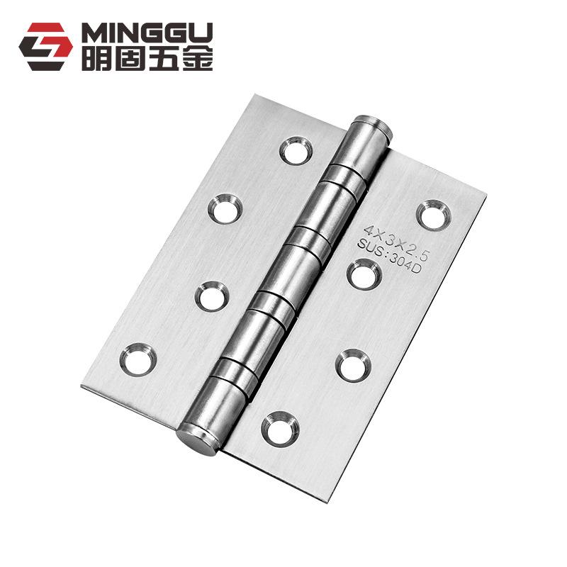 QIANGU Stainless steel bearing hinge wood door thick drawing black welding hinge