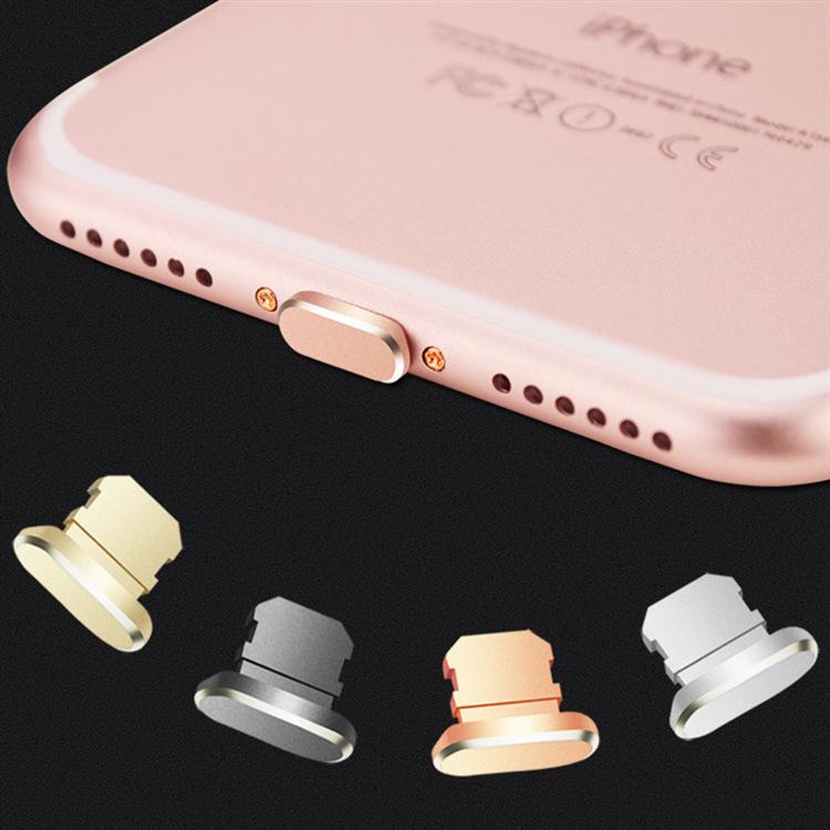 6plus metal iPhone x xruniversal 7plus data plug USB accessories mobile phone charging port dust plu