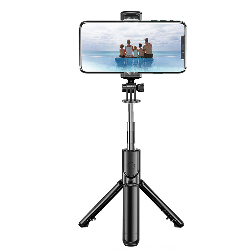 QISI Bluetooth self timer universal horizontal vertical tripod self timer mobile phone stand camera