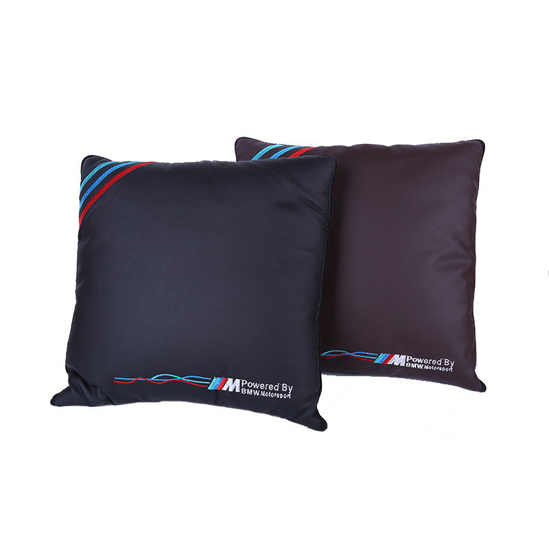 WANSHENG Auto supplies car pillow quilt Multifunctional two-color leather stitching 4S shop special
