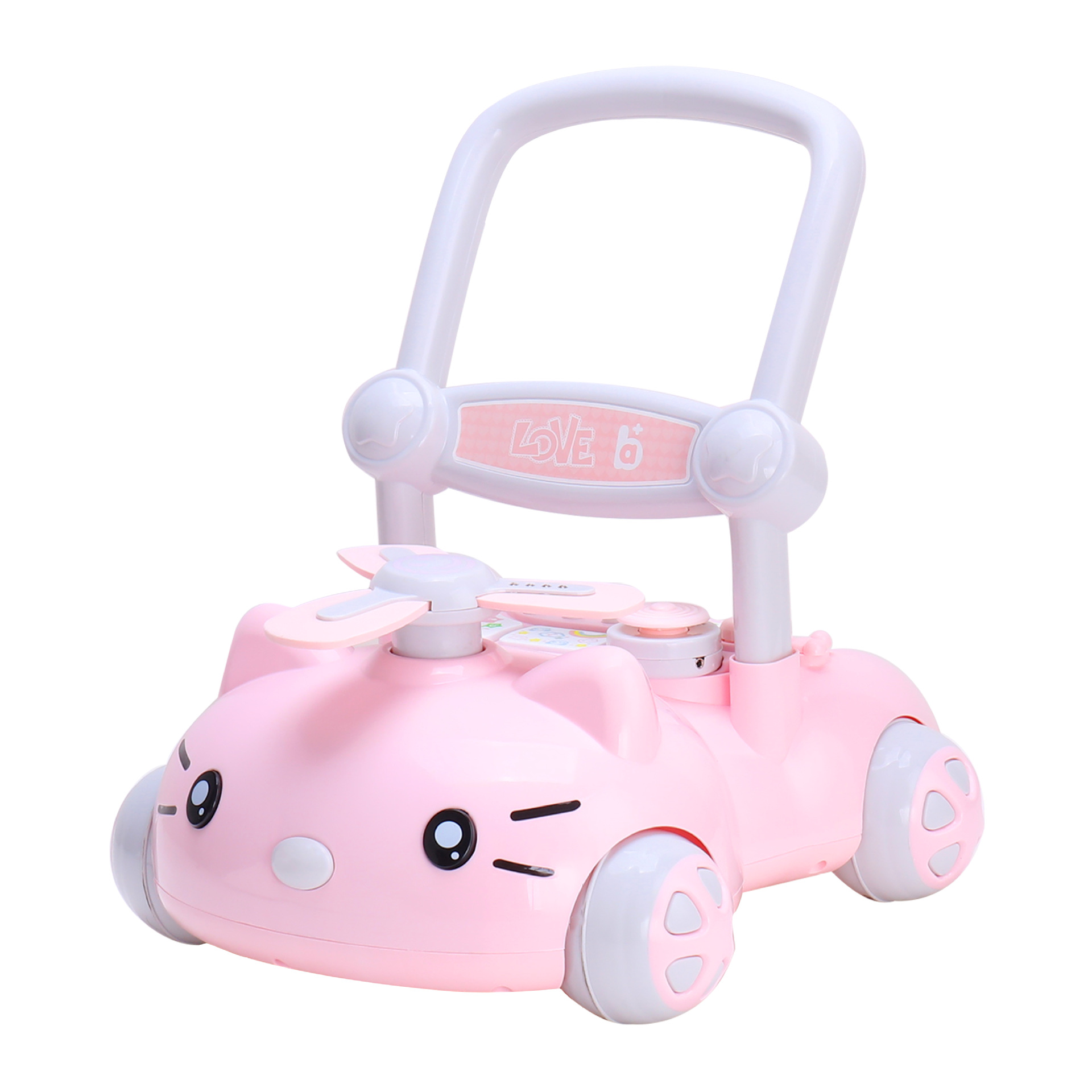A+B Mp3 music walkers with adjustable speed trolley, anti rollover baby walker