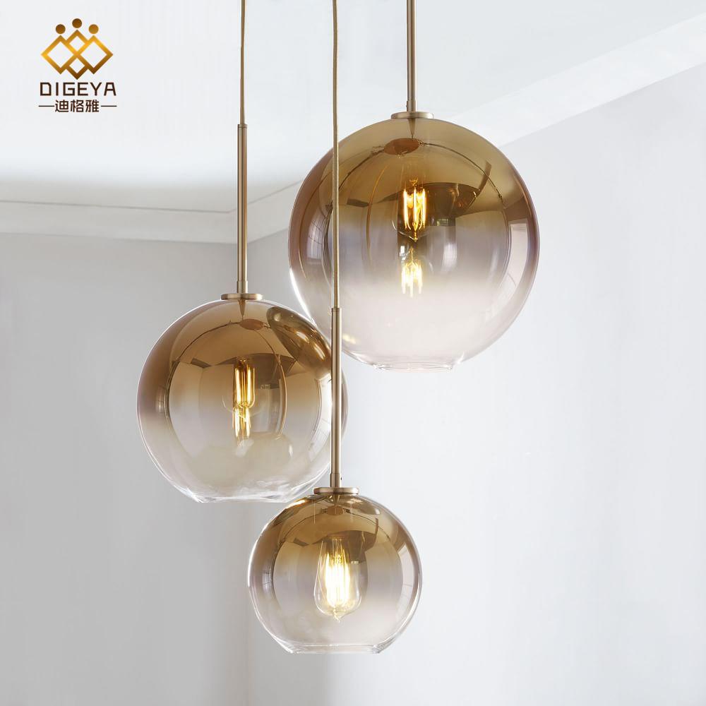 DIGEYA New Nordic living room bedroom bedside bar dining room glass chandelier light luxury gradient