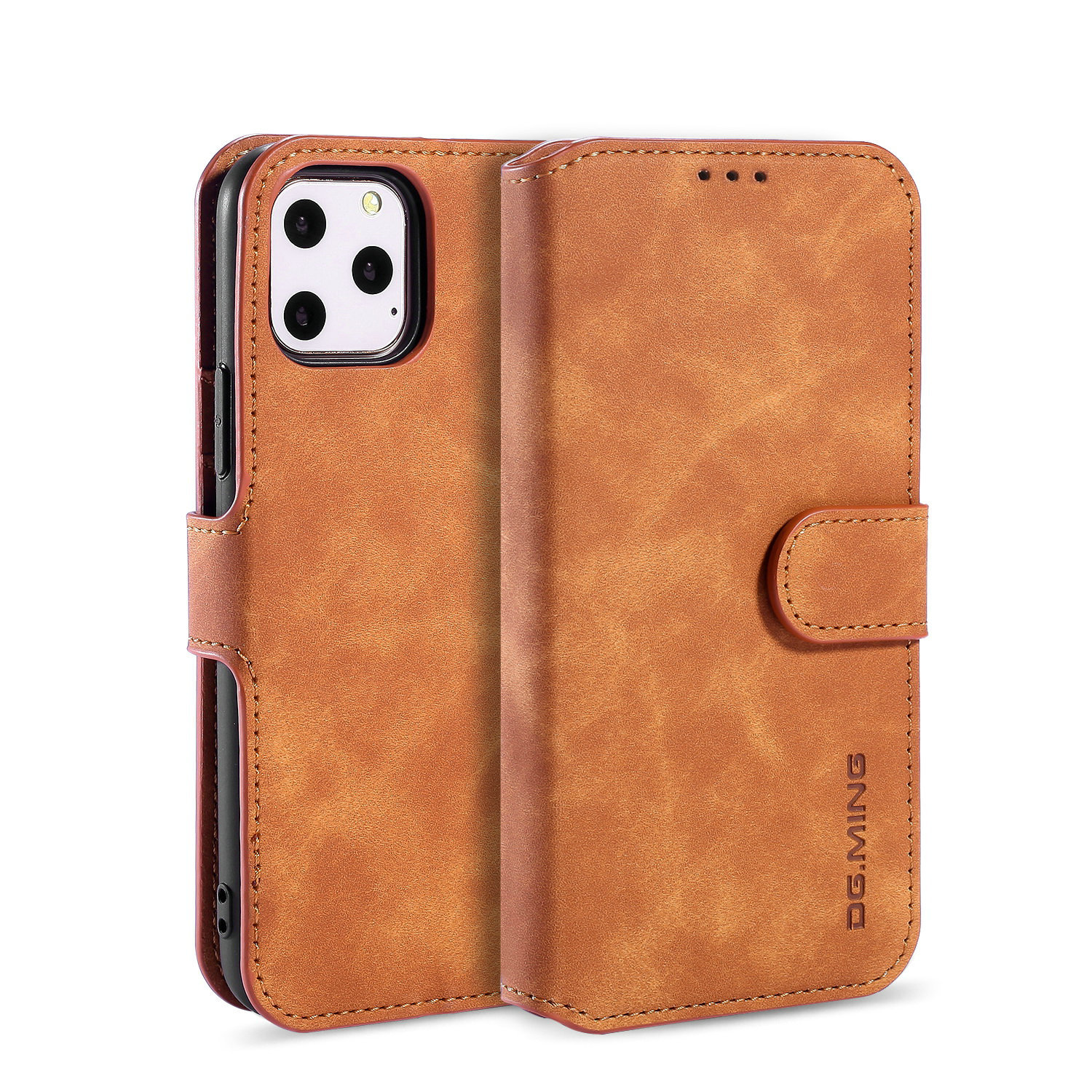 DG.MING is suitable for iPhone12 mobile phone leather case iP11 Pro XSMax mobile phone case SE 2020