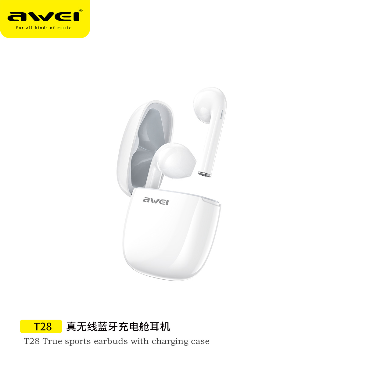 Awei new TWS Bluetooth headset T28 running sports V5.0 Mini earphone