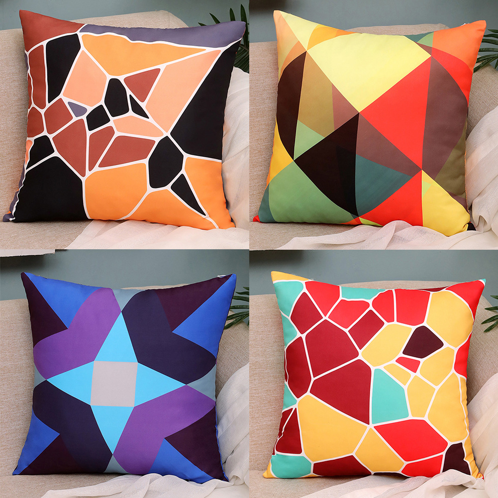 2021 new geometric pattern nap pillow comfortable cushion office pillow