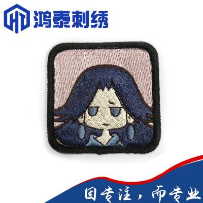 HONGYING phù hiệu vải Nhà máy Dongguan phim hoạt hình thêu huy hiệu vải nhãn dán huy hiệu sợi tùy ch