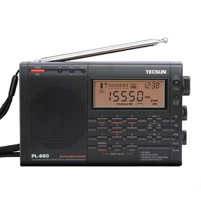 Tecsun Máy Radio Đài phát thanh Tecsun PL-660 Đài phát thanh kỹ thuật số độ nhạy cao di động toàn dả