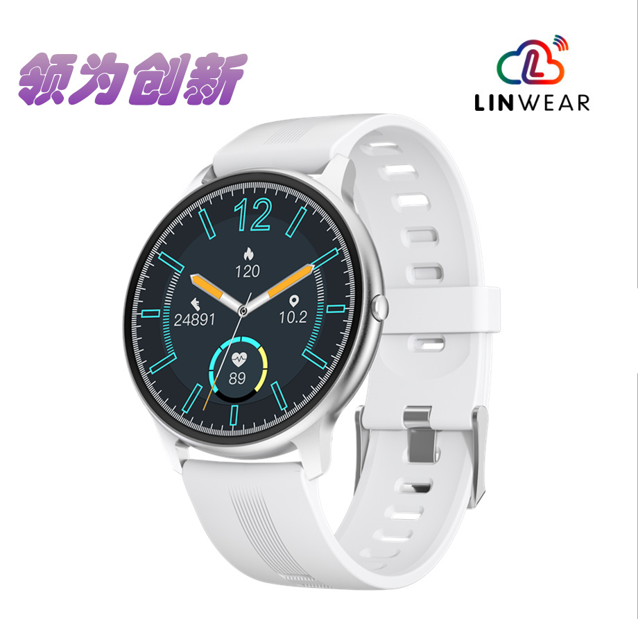 LINGWEAR Smart watch LW11 full circle full touch pedometer heart rate blood oxygen bluetooth watch c