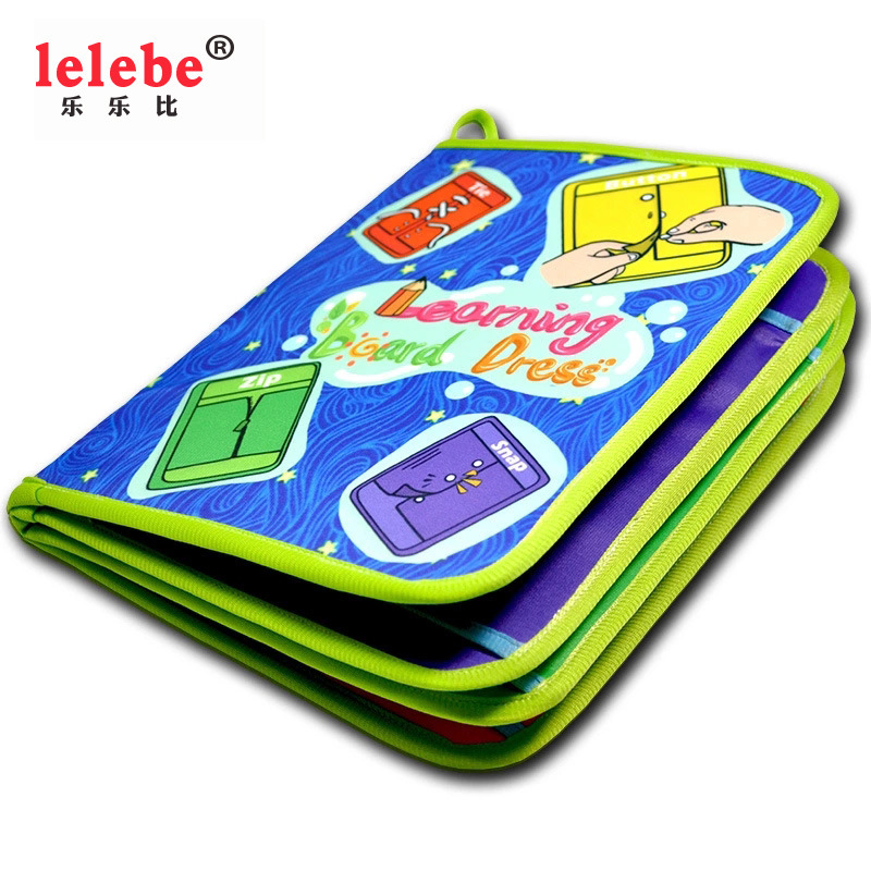 Lelebe baby cloth book foreign trade educational toys English baby cloth book early teaching cloth b