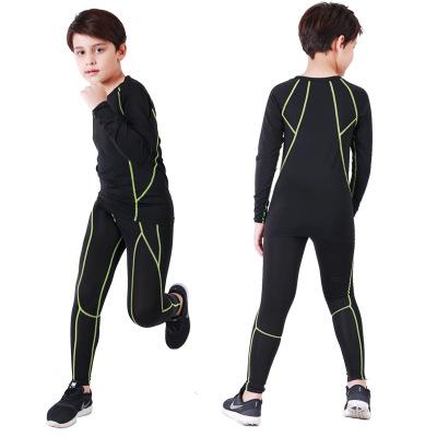 Bộ quần áo thể thao trẻ em bó sát nhanh khô, quần dài .