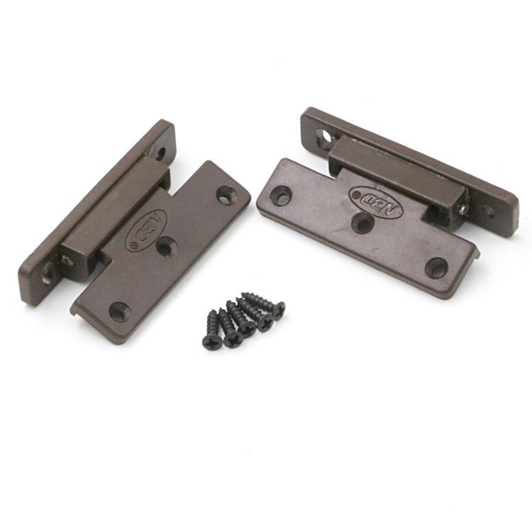 AMI Solid wood furniture closet door side dustproof strip hinge Hinge Plastic hinge Plastic spring h