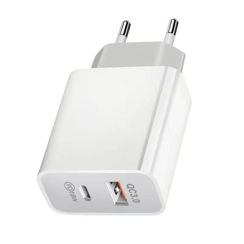 Cốc sạc nhanh USB /PD + qc3.0 18W / 5v9v12v
