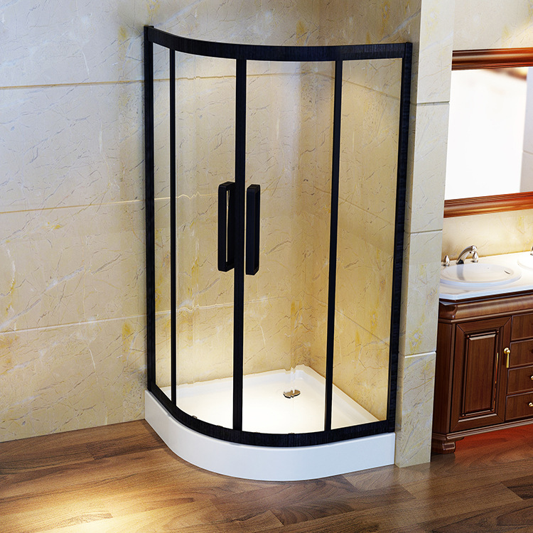 Stainless steel simple arc integral shower room, bathroom, toilet, dry and wet separation project
