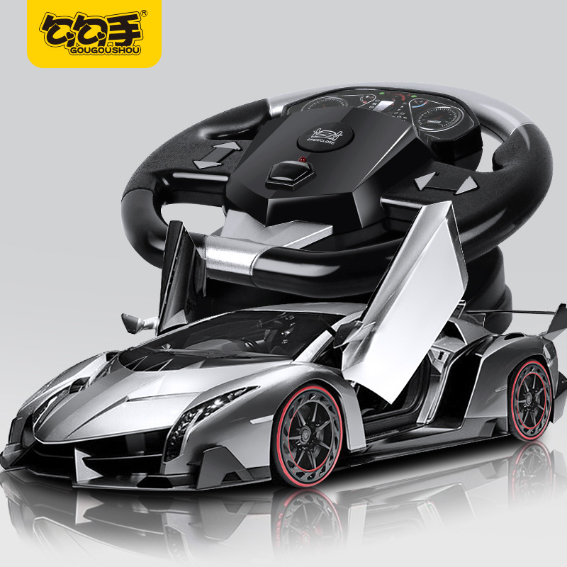 GOUGOUSHOU Remote control car toy hook hand toy car rechargeable drift gravity induction simulation