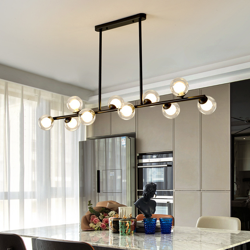 Nordic restaurant chandelier creative dining table long bar lamp LED living room lamp personalized b