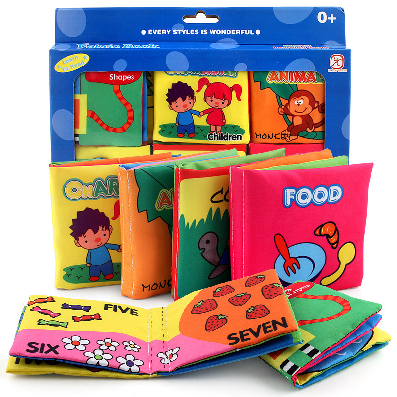 Chengke toys Cloth book three-dimensional early education 6 gift box sets baby palm Book baby toys