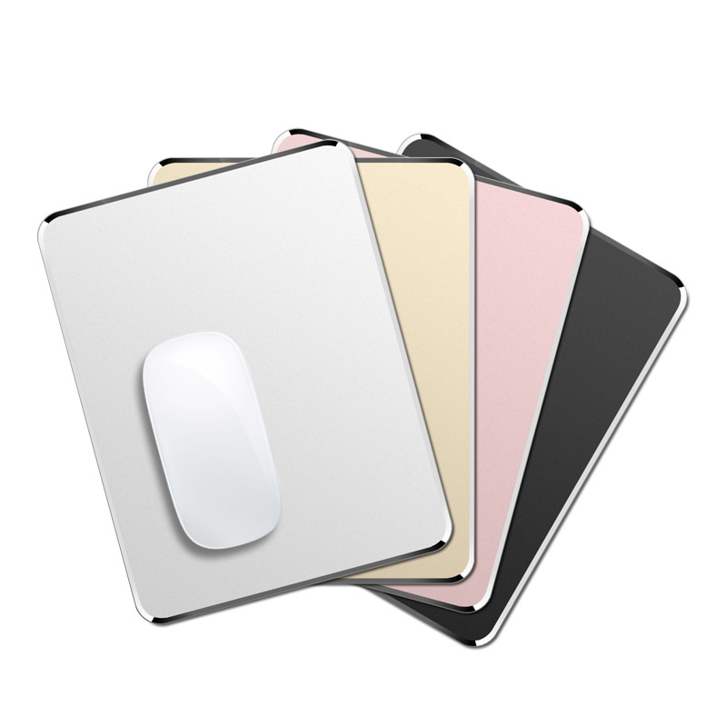 Aluminum alloy mouse pad supports customized laser LOGO color metal mouse pad