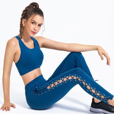 Set đồ tập thể dục, yoga với thiết kế quần đan dây kiểu gợi cảm