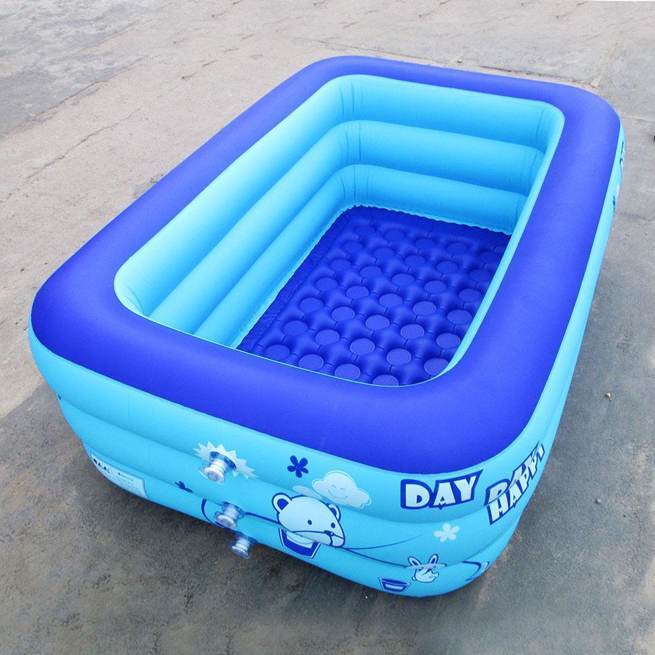 About 1.2m 3-storey swimming pool children's bath tub baby inflatable swimming pool children's Toy