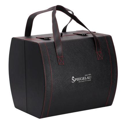 Hộp da  Hộp rượu spiegelau Lafite, hộp thủy tinh rượu vang đỏ, hộp da, 2 chiếc, bộ đóng gói hộp quà