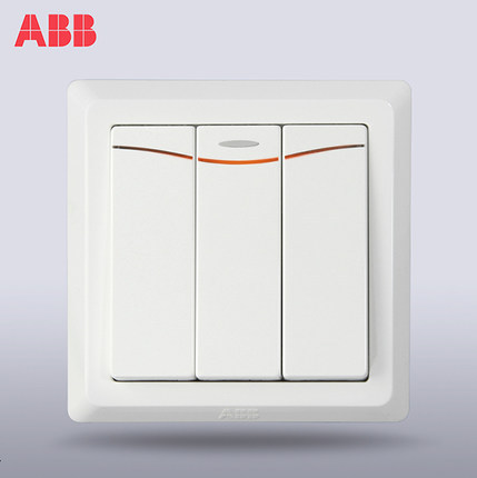 ABB Swiss ABB switch socket Deyi three switch double control switch with LED three position double c