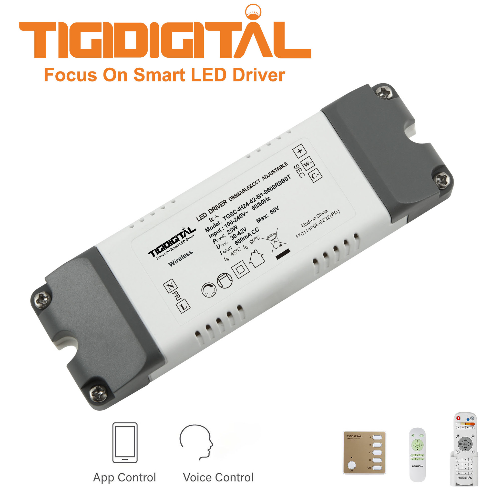 TAIJI 24W intelligent constant current drive 2.4G + Bluetooth power supply