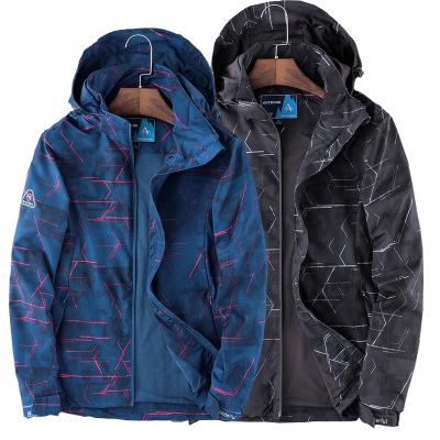 R.PREMAN Quần áo leo núi Áo khoác và quần ngoài trời mùa xuân và mùa thu của nam giới áo khoác thể t