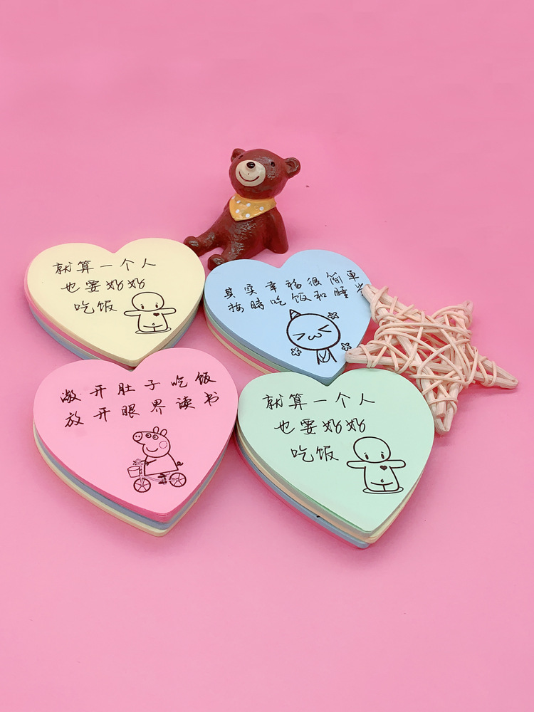 BAIKAI Milk tea catering note paper take out post it notes handwritten with words funny creative lov