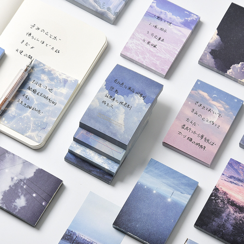 Yuezhen sky memory series Note Book Student portable memo record thickened notebook sub project mate