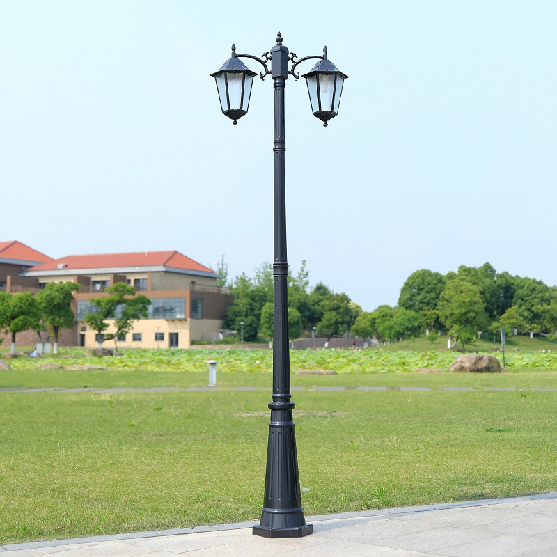 Courtyard lamp outdoor waterproof community garden villa landscape lamp double head LED street lamp
