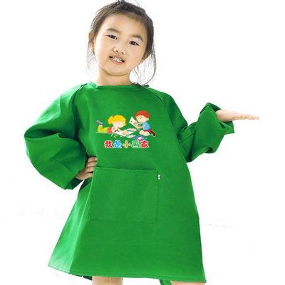 Áo khoác Nhà sản xuất bán hàng trực tiếp trẻ em quần áo áo hình mẫu ăn tối chống mặc tạp dề tùy chỉn