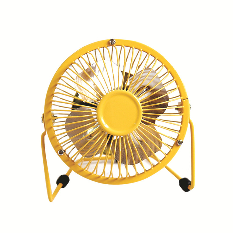 4 inch metal usb fan silent mini usb wrought iron fan summer products small home appliances