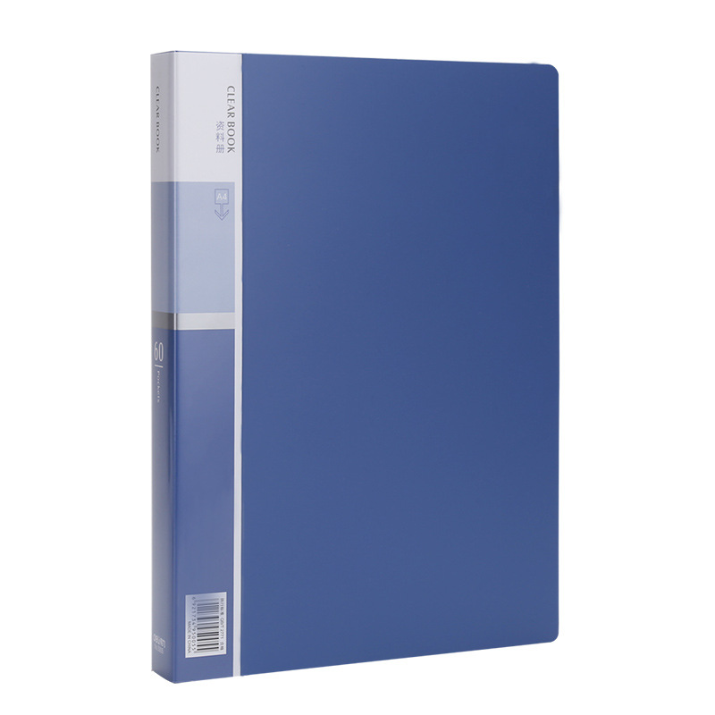Deli 5005 direct access data book A4 inner page transparent 60 page insert bag office storage folder