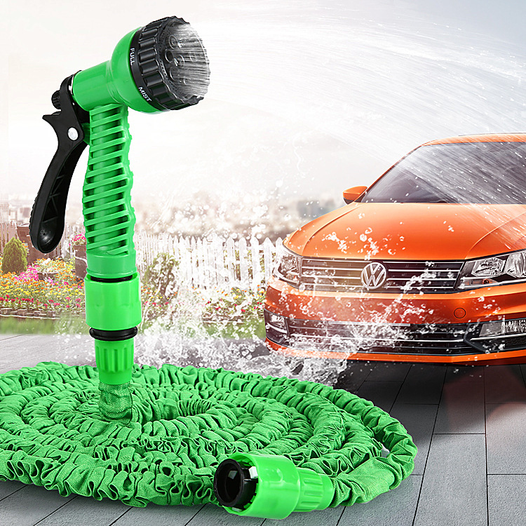 Household garden magic telescopic hose automobile high pressure car washing water gun tool set water