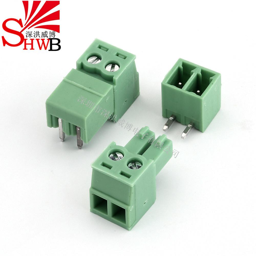 SHWB 3.81mm wiring terminal bent pin plug-in terminal 2edg