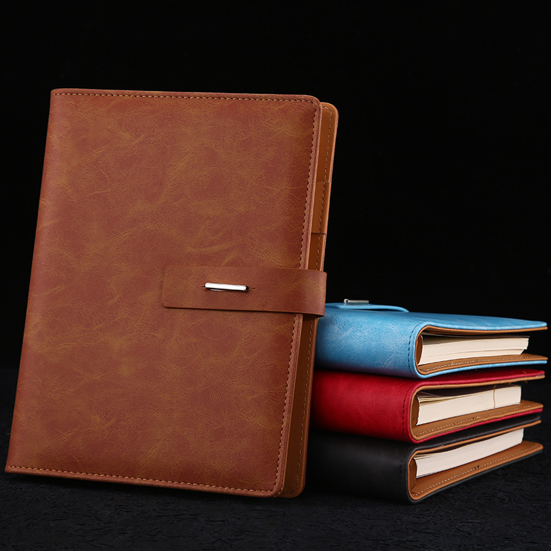 SENNUO Fashion retro imitation leather Notepad office supplies loose leaf with ring buckle account b
