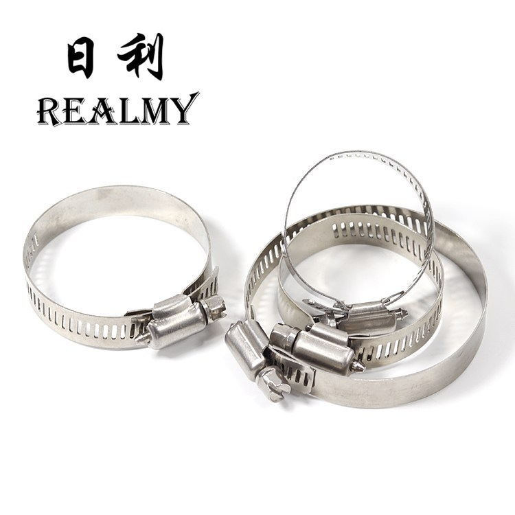 REALMY Rili 201 stainless steel pipe clamp strong clamp hoop ventilation pipe clamp clamp metal clam