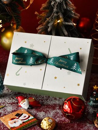 Hộp giấy bao bì  Hộp quà giáng sinh hộp rỗng hộp quà lớn trong lưới màu đỏ sinh nhật hộp táo sáng tạ