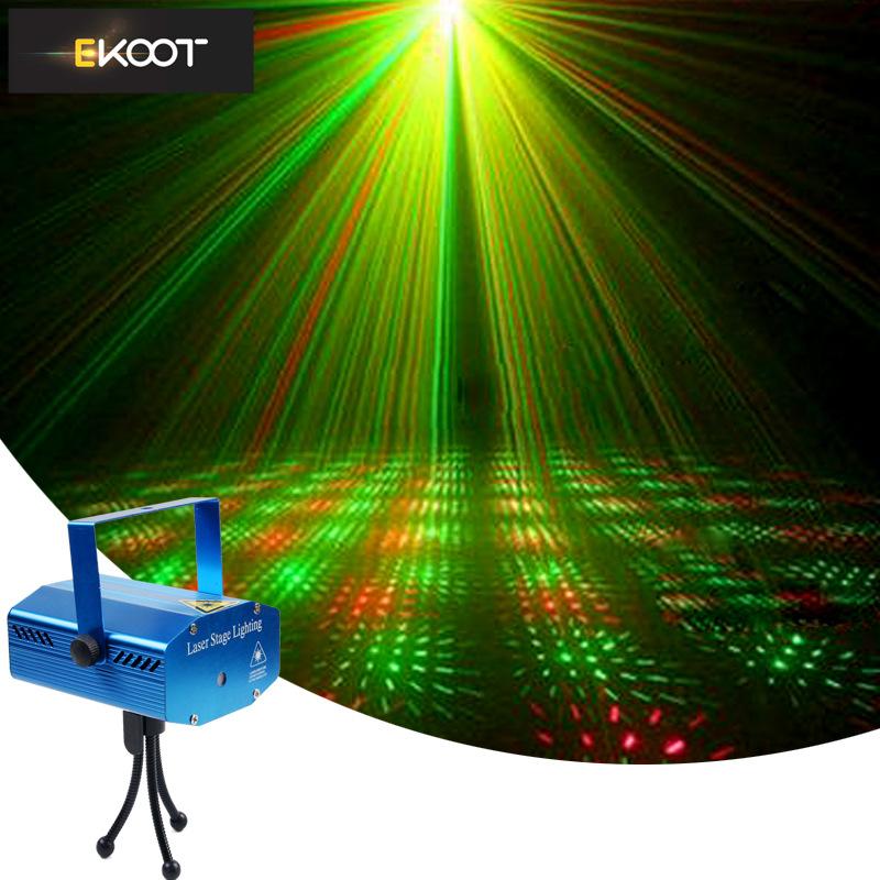 EKOOT Voice controlled mini laser lamp all sky star radium spotlight KTV stage equipment pattern lam