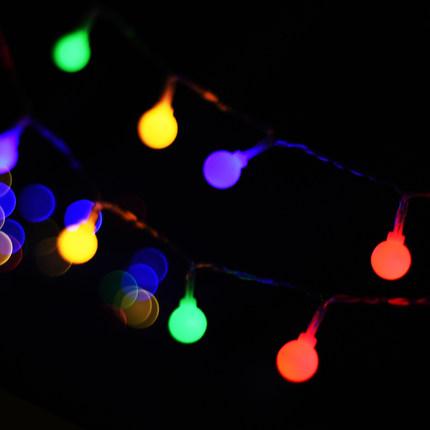 Bóng đèn LED Đèn LED tròn đèn màu nhỏ đèn nhấp nháy đèn dây bố trí phòng trang trí bữa tiệc sinh nhậ