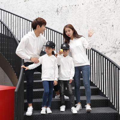 KANIYA Áo thun gia đình Mùa xuân và mùa thu màu sắc phù hợp với in ấn logo của cha và con mặc áo trù