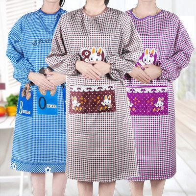 JIANAN Áo khoác Nhà sản xuất trực tiếp nhà bếp tạp dề cho người lớn mặc áo trùm áo dài tay áo tạp dề