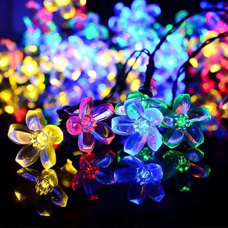 ZHOUCHEN Solar cherry blossom lamp string modeling lamp LED lamp outdoor waterproof lamp string Chri