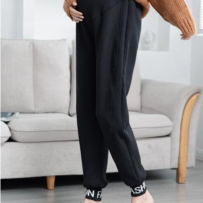 QIAOJIAYAN Trang phục bầu Quần lót phụ nữ mang Thai mùa thu và mùa đông với quần lót dày và quần lót
