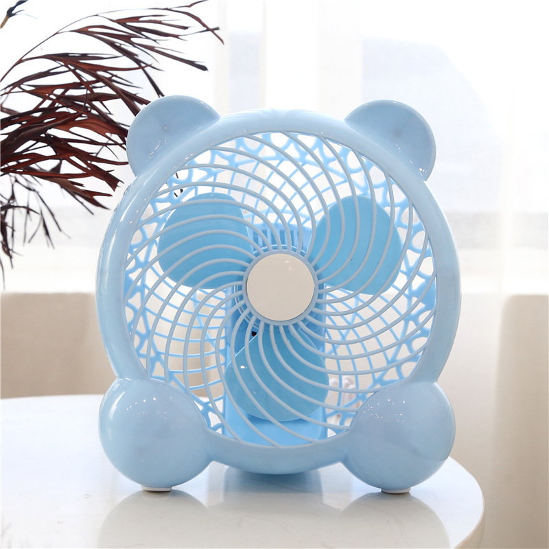 Desktop cartoon USB silent electric fan student dormitory desktop office mini fan 7 inch 2-stage str
